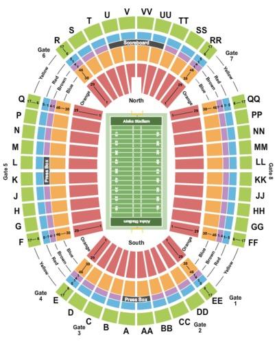 Aloha Stadium Tickets - Aloha Stadium in Honolulu, HI at ...