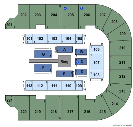 Bancorpsouth Arena Tickets Bancorpsouth Arena In Tupelo Ms At