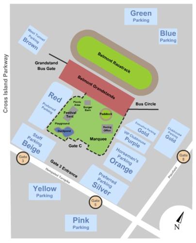 Belmont Park Raceway Parking Lots