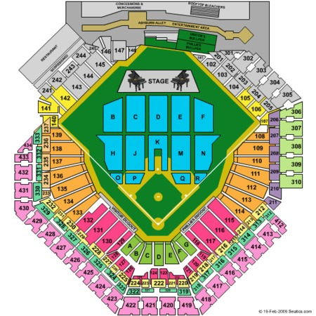 Citizens bank park concert seating chart billy joel elcho table