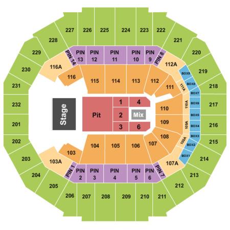 Chris Stapleton Tickets Section 105 Row D Fedexforum In Memphis
