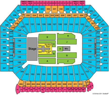 Ford field seating chart for concerts elcho table