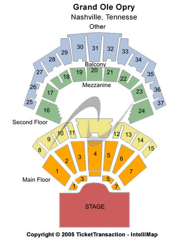 Grand Ole Opry Seating Map World Map 07
