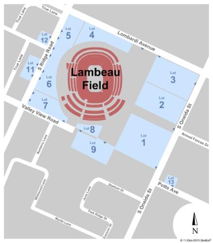 Lambeau Field Parking Lots