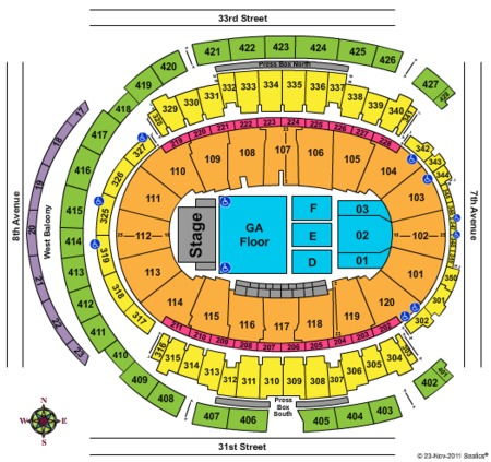 Madison square garden tickets madison square garden in new york ny at gamestub for Seating chart for madison square garden