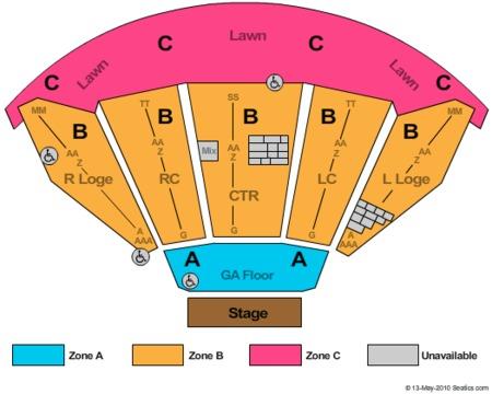 Merriweather Post Pavilion Seat Map Www