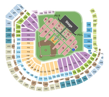 Taylor Swift Tickets Houston on Madonna Seating Map Capacity N A Taylor Swift Seating Map Capacity N A