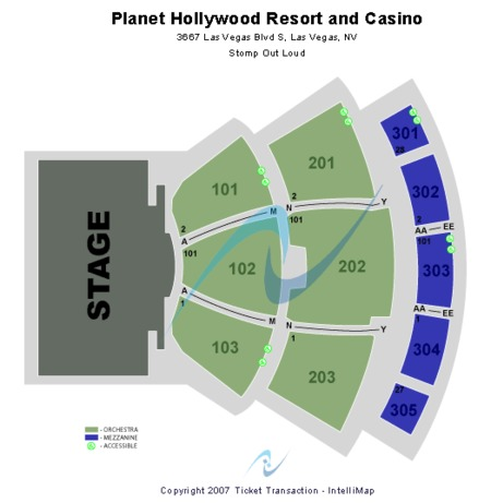Planet Hollywood Showroom - Planet Hollywood Resort & Casino