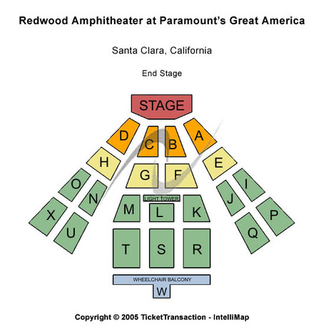 Redwood Amphitheatre at Paramounts Great America