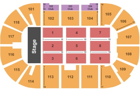 Rogers K Rock Centre Seating Chart Rogers K Rock Centre