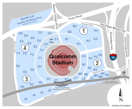 Qualcomm Stadium Parking Lots