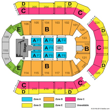 spokane arena seating chart miranda lambert: Spokane arena tickets spokane arena in spokane wa at gamestub