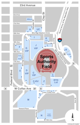 Sports Authority Field At Mile High Parking Lots
