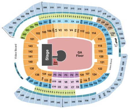 Minnesota Vikings US Bank Stadium Map Seating Chart - Map of us bank stadium