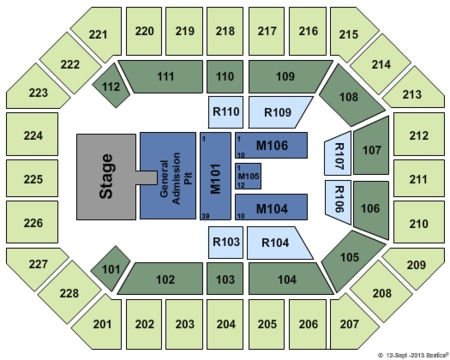 US Cellular Center Seating Chart US Cellular Center Tickets US - Us cellular center seat map
