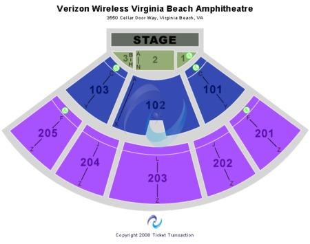 Virginia Beach Amphitheatre - Parking Lot